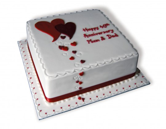 Cake Decorating Ideas For Ruby Wedding : Simply Marvellous Cakes   Ruby Wedding Anniversary