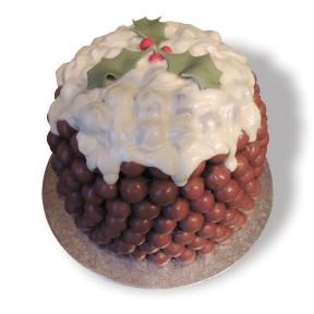 Maltesers Xmas Pud cake