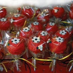 Red Football Cake Pops