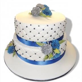 Wedding 2tier blue carnations