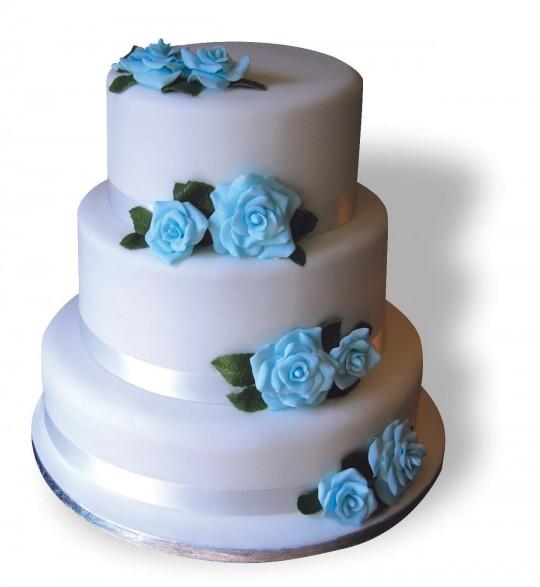 Wedding 3tier_blue roses