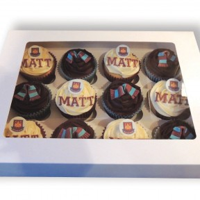 West Ham boxed cupcakes