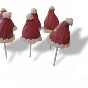 Xmas Hat Cake Pops