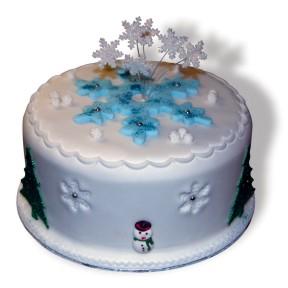 Xmas snowflake cake