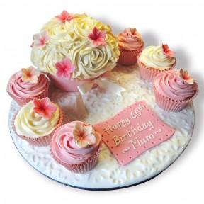 Pink & Ivory cupcake board