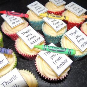 Teacher Crayon cupcakes