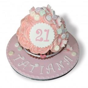 Love Heart Giant Cupcake