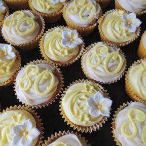 Yellow_80th cupcakes