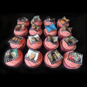 Film strip cupcakes