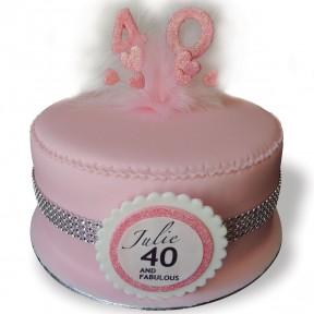 Pretty 40 Pink Sparkly