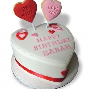 Valentine cake+cookies