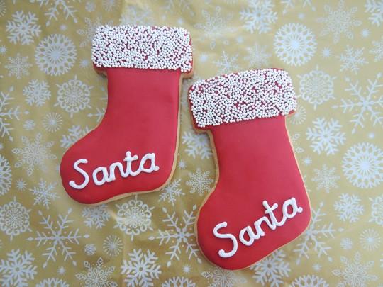 Santa Stocking Cookies