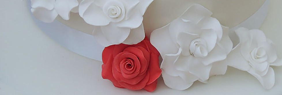 Wedding 2 tier + redroses banner