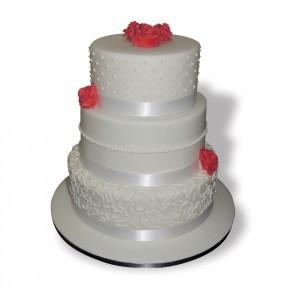 Wedding 2 tier_redroses