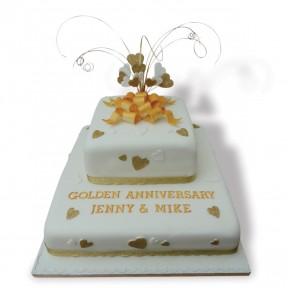 2tier Golden Wedding