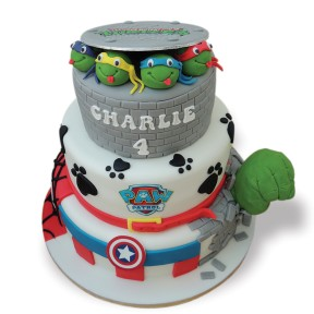 3 tier Turtles,PawPatrol,Marvel