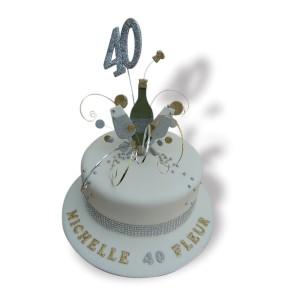 40th champagne topper