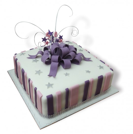 Purple&Pink striped 50th