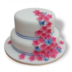 2 tier wedding pink&blue