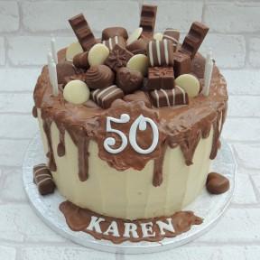 Karen 50 Drip cake