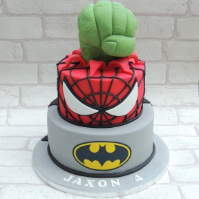 Simply Marvellous Cakes Hulk Spiderman