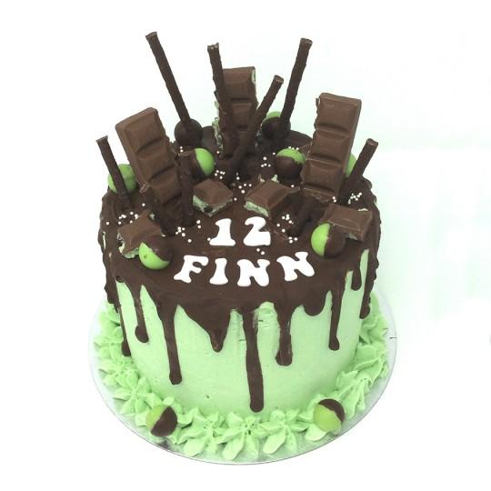 Mint Choc Drip cake