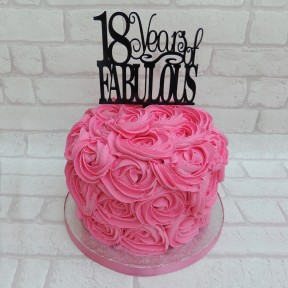 Pink Rose Swirl Buttercream