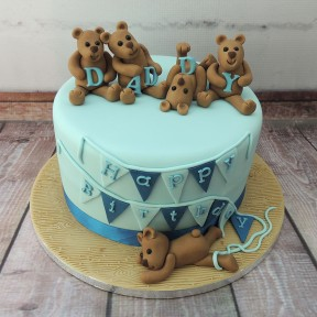 Teddies with bunting
