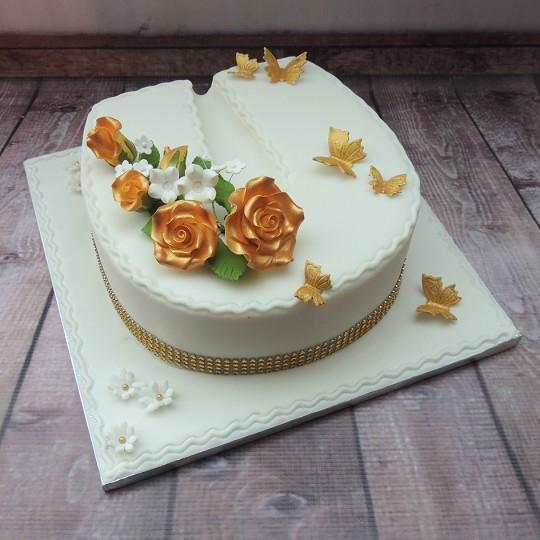 Golden Wedding Horshoe