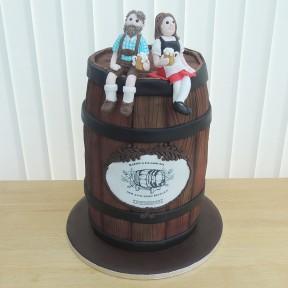 Wedding beer barrel